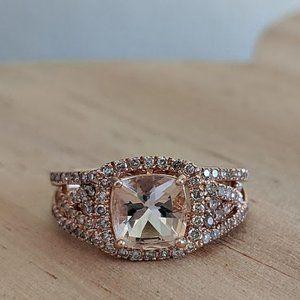 14k Solid Gold Alwand Vahan Morganite Ring
